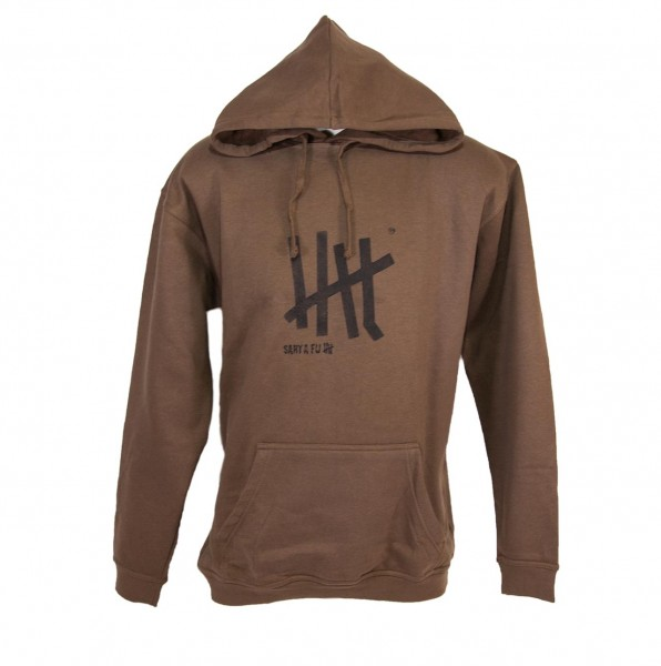 "Kapuzen-Sweat-Shirt coffee, ""Motiv Five"""