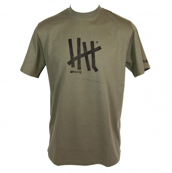 "T-Shirt oliv, ""Motiv Five"""