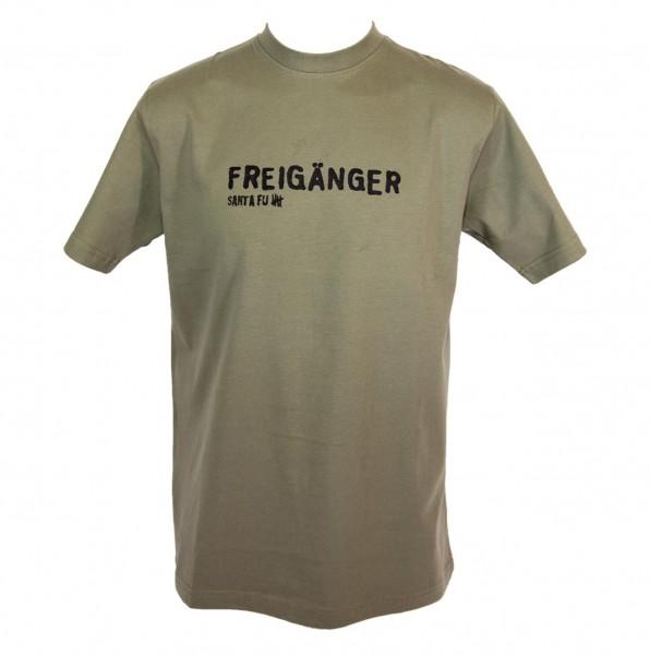 """T-Shirt oliv,"""" Freigänger"""""""