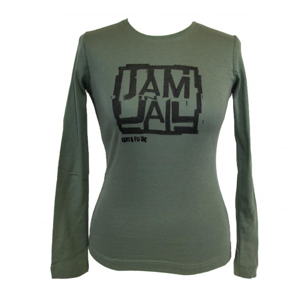 "Lady-Shirt oliv, ""JAM IN JAIL"", langarm"