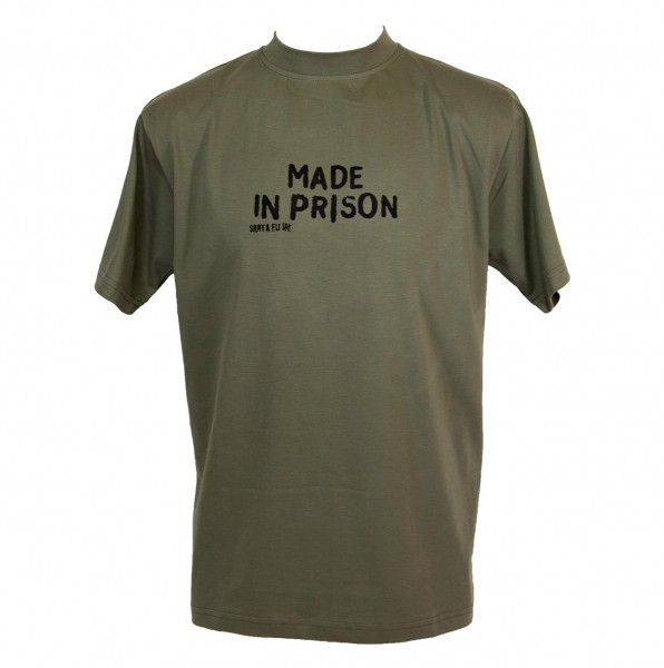 "T-Shirt oliv, ""Made in Prison"""