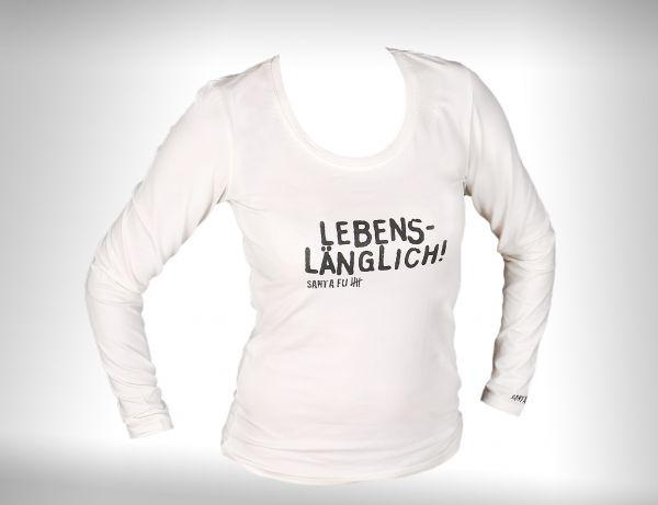 """Lady-Shirt naturweiss, """"diverse Aufdrucke"""", langarm"""